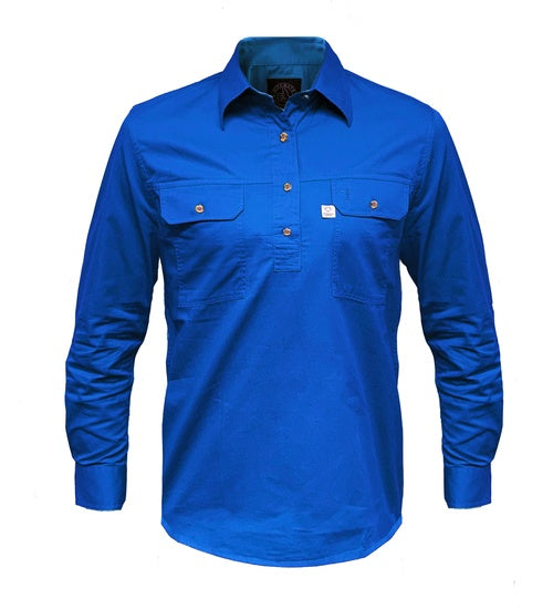 Mens Pilbara Aus Cotton Closed Front Workshirt