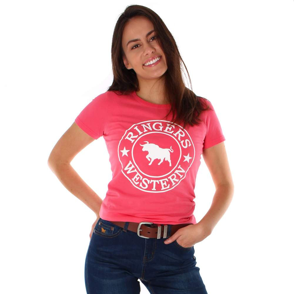 Womens Ringers Western Curl Curl Classic Tee