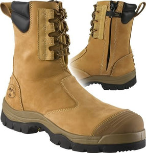 Oliver Workboot Hi-leg Wheat Zip Sided Boot