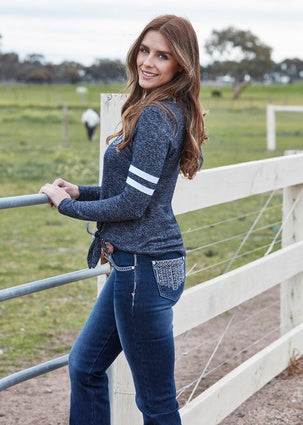 Womens Pure Western Angie Relaxed Rider 36 Leg Jean