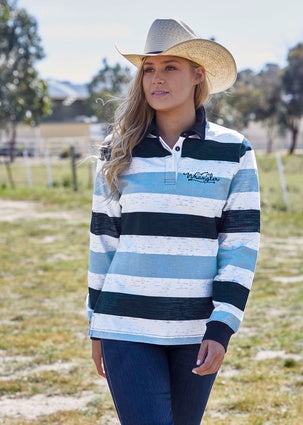 Womens Wrangler Avalon Stripe Rugby