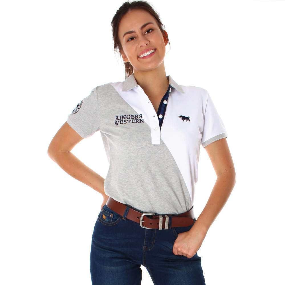 Womens Ringers Western Ellerston Polo Grey