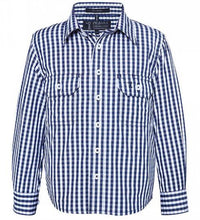 Kids Pilbara Long Sleeve Check Shirt- Pink or Navy