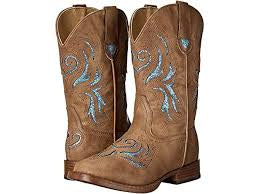 Kids Roper Glitter Breeze Tan Boot