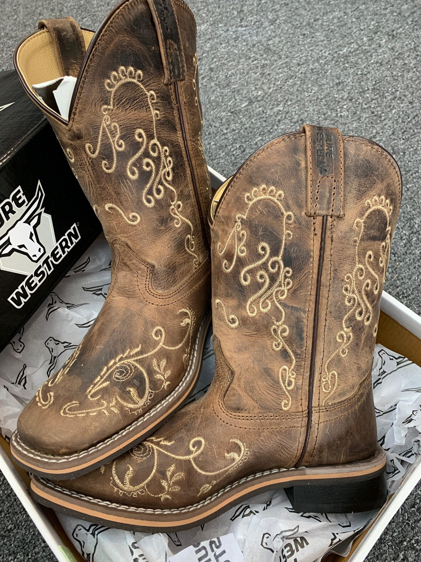Kids Pure Western Grace Boot Children