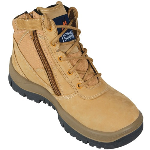 Mongrel Workboot Ankle zipsider Boot Wheat