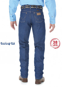 Mens Wrangler Cowboy Cut Original Fit 38 Leg Jean