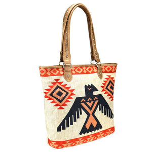 Ladies Tote- Tall- Aztec Thunderbird