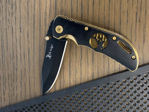 Elk Ridge Knife- Black/Gold
