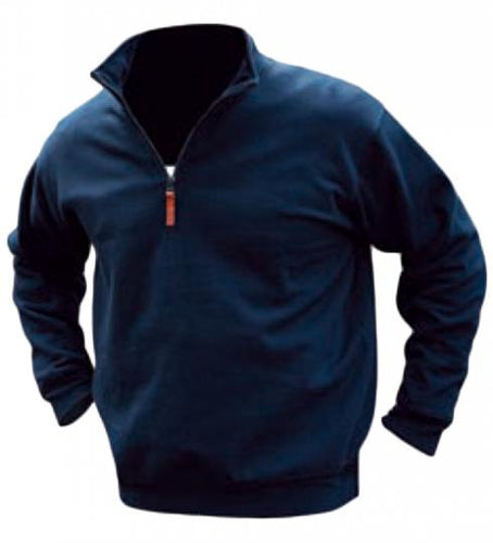 Mens Pilbara Classic Zipper Pullover French Navy