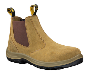 Oliver Workboot Beige Suede Elastic side