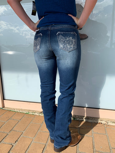Womens Wrangler Rock 47 True Blue Jean