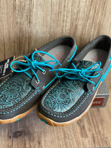 Womens Twisted X Turquoise Cut out Moc SP19