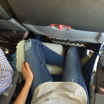 """Would try to stick my toes into the magazine pocket"" - Sarah, Jetstar"