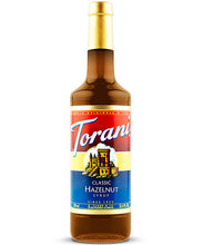 750ml Torani Classic Hazelnut flavouring syrup bottle