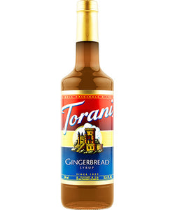750ml Torani Gingerbread flavouring syrup bottle