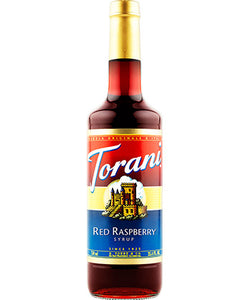 750ml Torani Red Raspberry flavouring syrup bottle