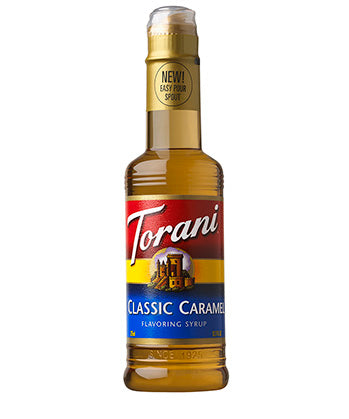 375ml Torani Classic Caramel flavouring syrup bottle