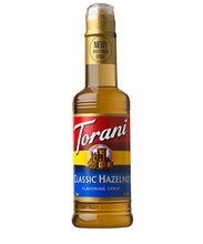 375ml Torani Classic Hazelnut flavouring syrup bottle