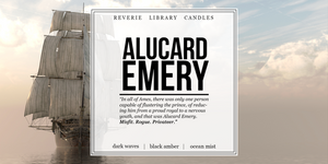 Alucard Emery ~ A Darker Shade of Magic ~ Soy Candle for Bibliophiles