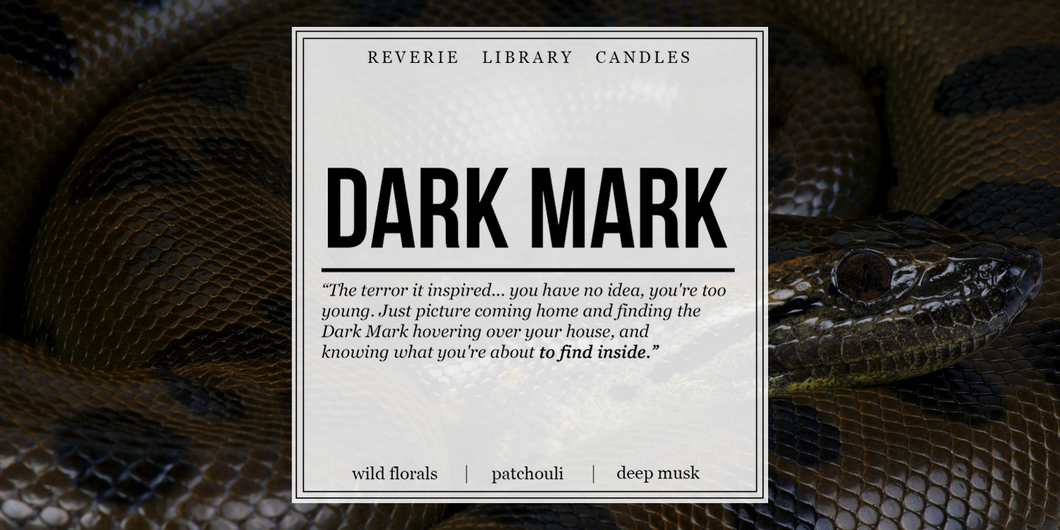 Dark Mark ~ Harry Potter ~ Soy Candle for Bibliophiles