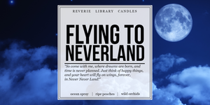 Flying to Neverland ~ Peter Pan ~ Soy Candle for Bibliophiles