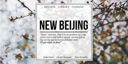 New Beijing ~ Lunar Chronicles ~ Soy Candle for Bibliophiles