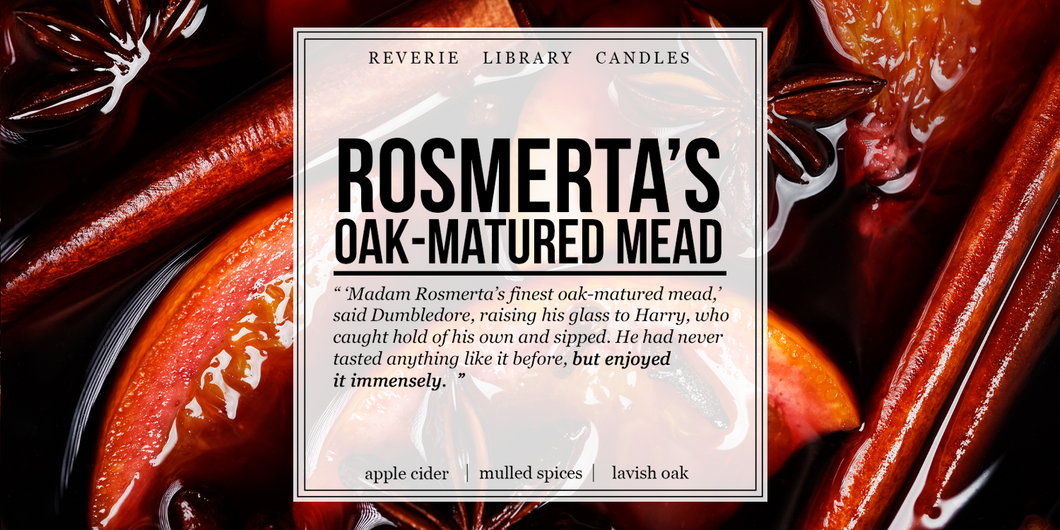 Madame Rosmerta's Oak-Matured Mead ~ Harry Potter ~ Soy Candle for Bibliophiles