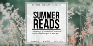 Summer Reads ~ Exclusive Bookish Candle ~ Soy Candle for Bibliophiles