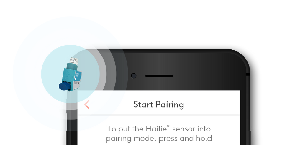 Pair your Hailie™ sensor with the Hailie™ app