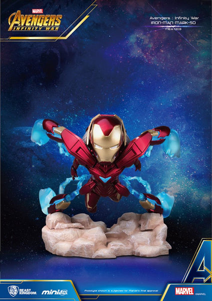 Beast Kingdom Marvel Avengers Q IRON MAN Infinity War 3 Inch Mini Statue Egg Attack