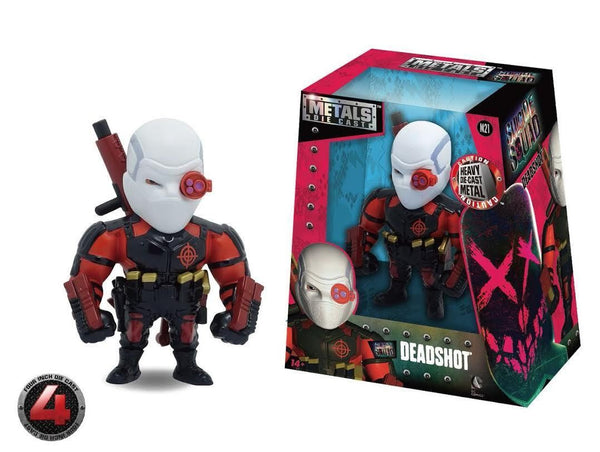 100% DIE CAST METALS 4 INCH SUICIDE SQUAD DEADSHOT BY JADA TOYS HOT NEW M21 - 219 Collectibles