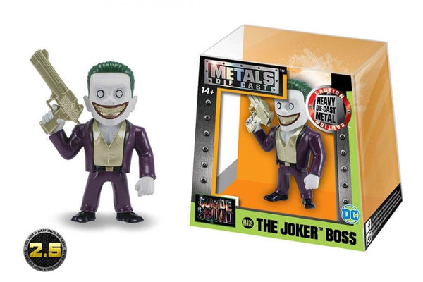 Jada Metals Die Cast Figure Suicide Squad 2.5 inch The Joker Boss Variant M428 - 219 Collectibles