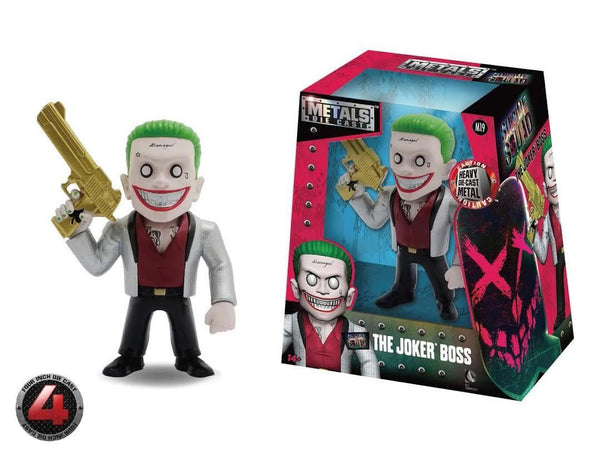 100% DIE CAST METALS 4 INCH SUICIDE SQUAD JOKER BOSS BY JADA TOYS BRAND NEW M19 - 219 Collectibles