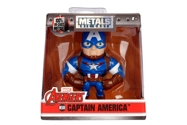 "IN STOCK!  Marvel Avengers Jada Metals Die Cast 2.5"" Figure Captain America M500 - 219 Collectibles"
