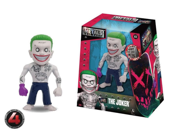 100% DIE CAST METALS 4 INCH SUICIDE SQUAD JOKER BY JADA TOYS BRAND NEW M18 - 219 Collectibles