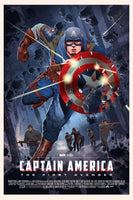 Captain America Poster Art Print by Mondo Artist Stan and Vince Reg Version