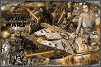 "Ise Ananphada's ""Star Wars: The Force Awakens"" Variant Edition Poster Art Print"