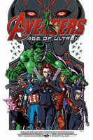 Avengers Age of Ultron Poster Art Print by Justin Hampton