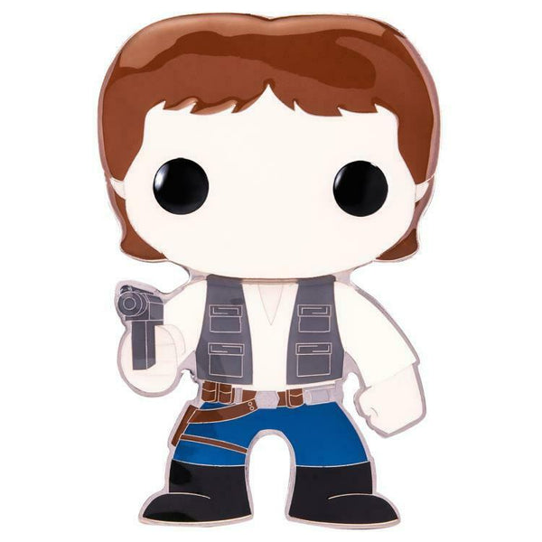 IN STOCK! Star Wars Han Solo Large Enamel Pop! Pin by Funko