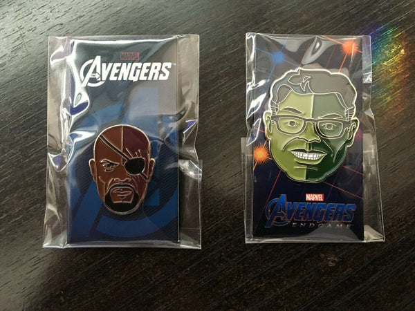 Mondo Marvel 2019 SDCC EXCLUSIVE NICK FURY & SMART HULK by Tom Whalen Pin