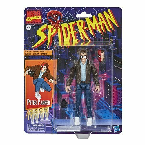 Spider-Man Retro Marvel Legends Peter Parker 6-inch AF by Hasbro