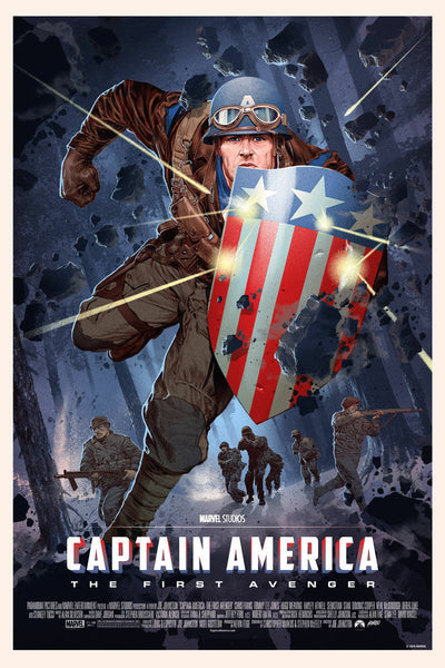 SDCC 2016 Mondo Exclusive Captain America Variant Art Print by Stan and Vince