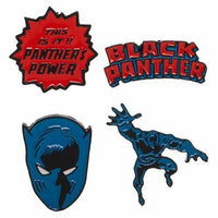 New Marvel's Black Panther Lapel Pin Set of 4 by Bioworld