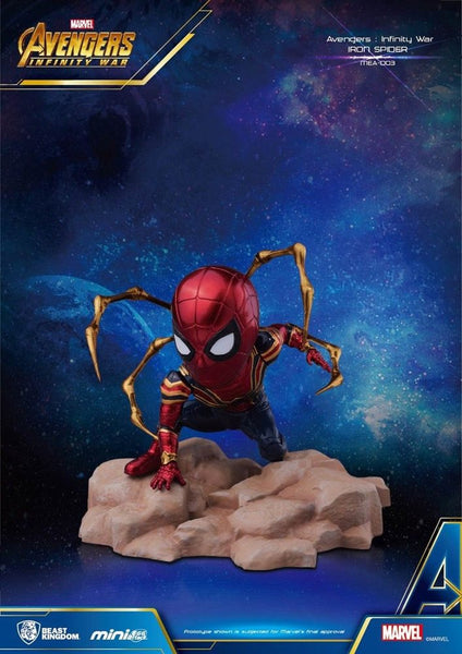 Beast Kingdom Marvel Avengers Q Iron Spider Infinity War 3 Inch Mini Statue Egg Attack