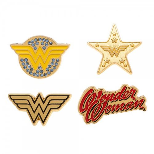 New DC Wonder Woman Lapel Pin set of 4 - 219 Collectibles