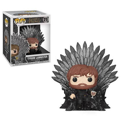 Game of Thrones Tyrion Lannister Sitting on Throne Deluxe FUNKO Pop! Vinyl Figure - 219 Collectibles