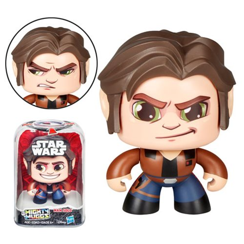 Disney Star Wars Mighty Muggs Han Solo Action Figure by Hasbro - 219 Collectibles
