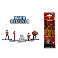 "The Incredibles 1.65"" JADA Nano Metalfigs Die-Cast Mini-Figures 5-Pack"