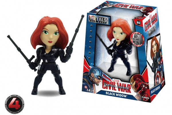 "New In Stock! Jada Die Cast 4"" Metals Captain America Civil War Black Widow M48 - 219 Collectibles"